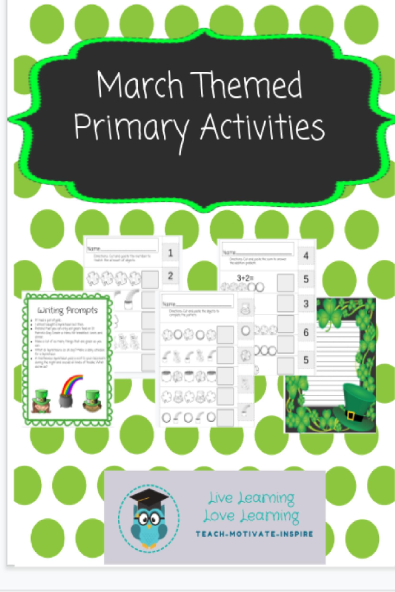 St Patrick S Day Primary Packet With Images