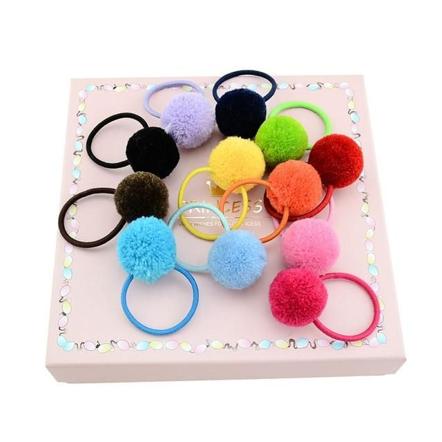 12Pcs/lot Children Girls Hair Ball Headrope Cute Fashion New Arrival Baby Elastic Hair Bands Rubber Band #hairbands 12Pcs/lot Children Girls Hair Ball Headrope Cute Fashion New Arrival Baby Elastic Hair Bands Rubber Band #hairbands