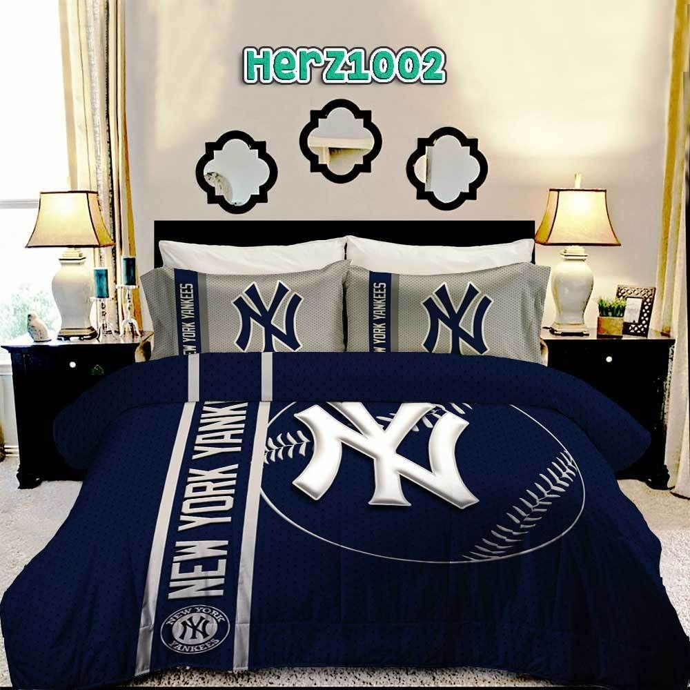 Yankees Bedding Yankees Bed Set Yankee Room Yankee Bedroom Bedding Sets