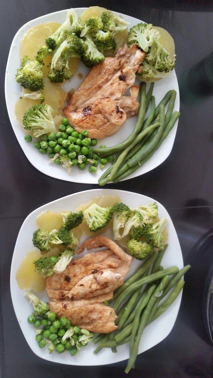 Pollo a la Plancha con vegetales.