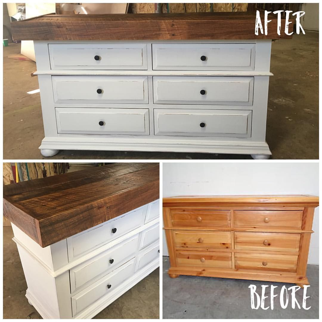 Here It Is From Broyhill Blah To Custom Chic Barnwood Dresser