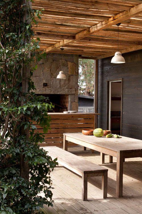 Pin de el tornillo que te falta en outdoor cabane jardin for Jardin al aire libre de madera deco