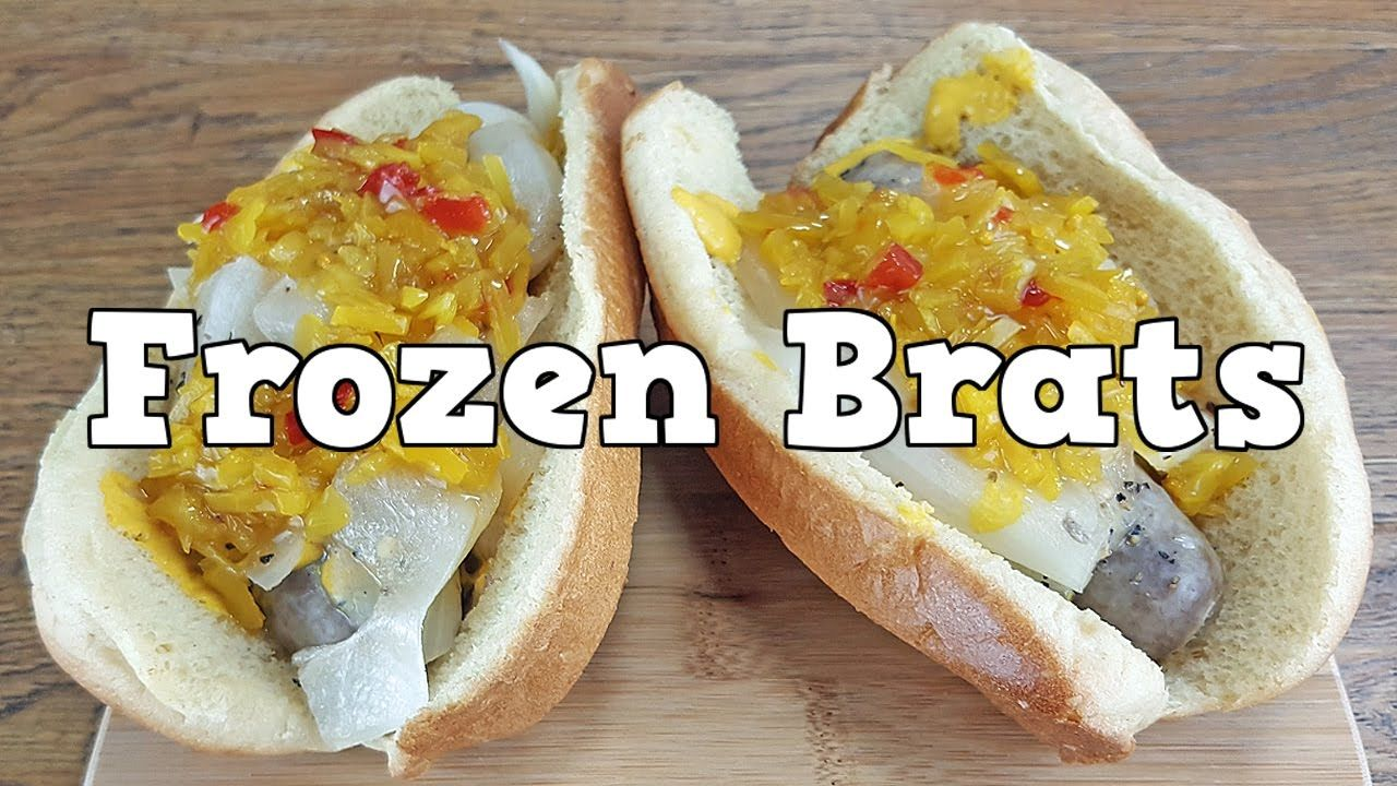 How to cook frozen johnsonville brats in a pressure cooker