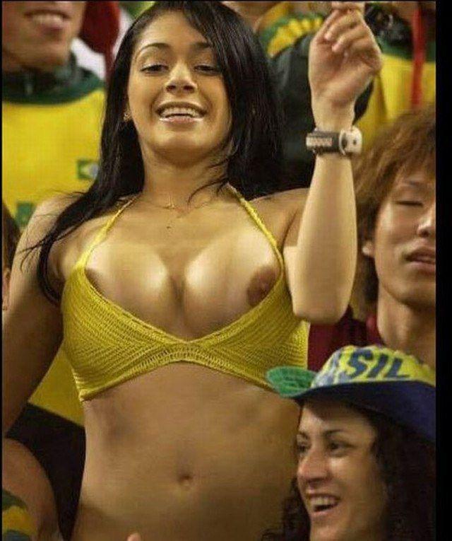 Workd Cup Hottie Nipple Slip Brazil