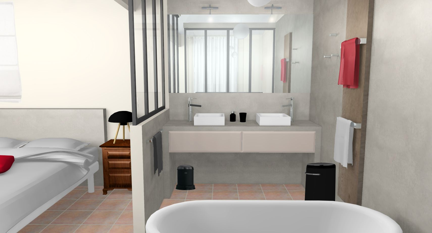 1000 images about sweet home chambre sous combles on pinterest - Chambre Avec Salle De Bain Verriere