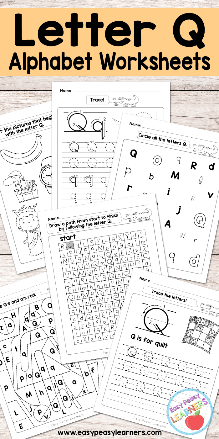Free Printable Letter Q Worksheets - Alphabet Worksheets Series ...