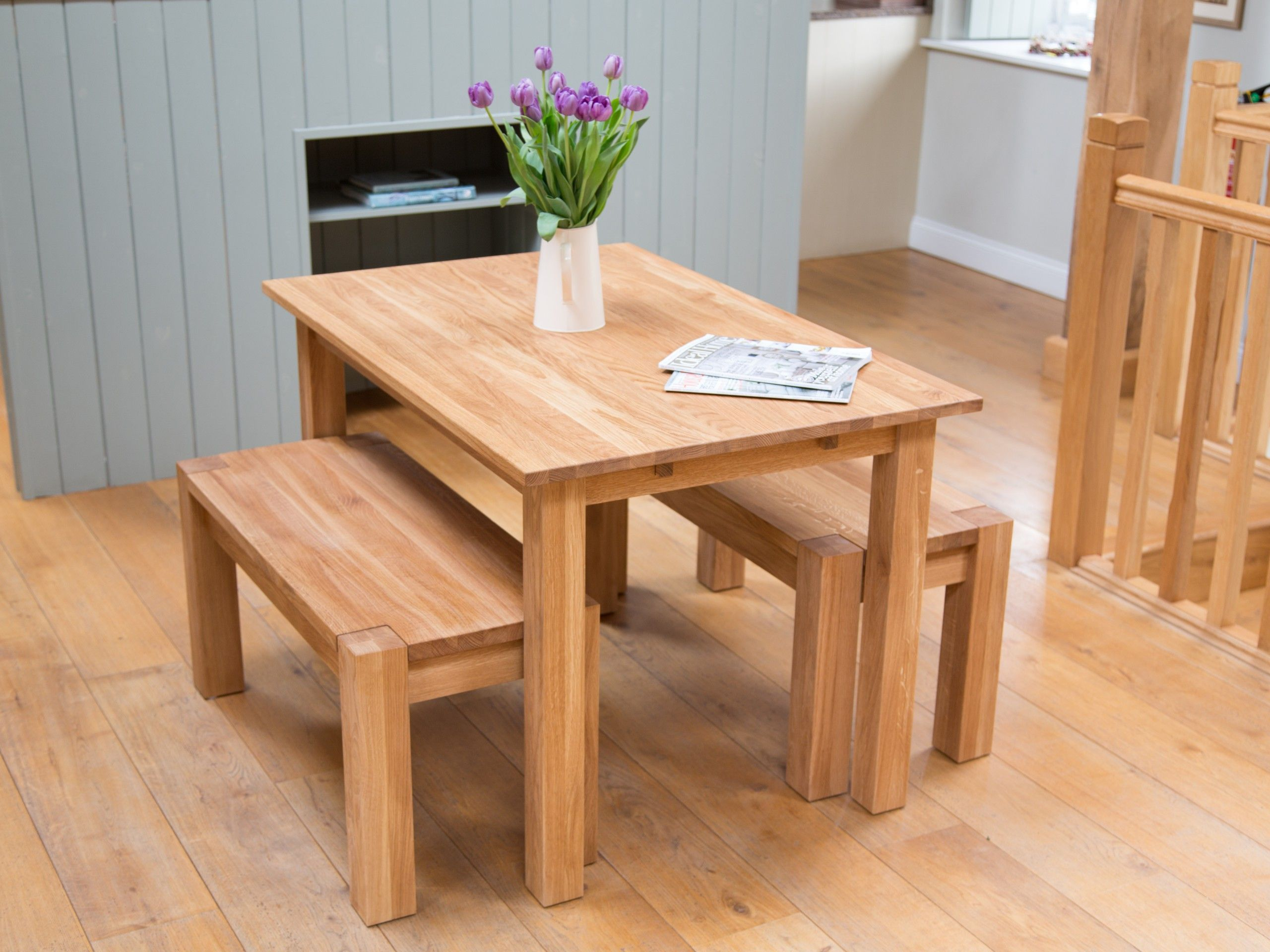 Oak Table And Bench Set From Top Furniture Ltd Dining Set Tables