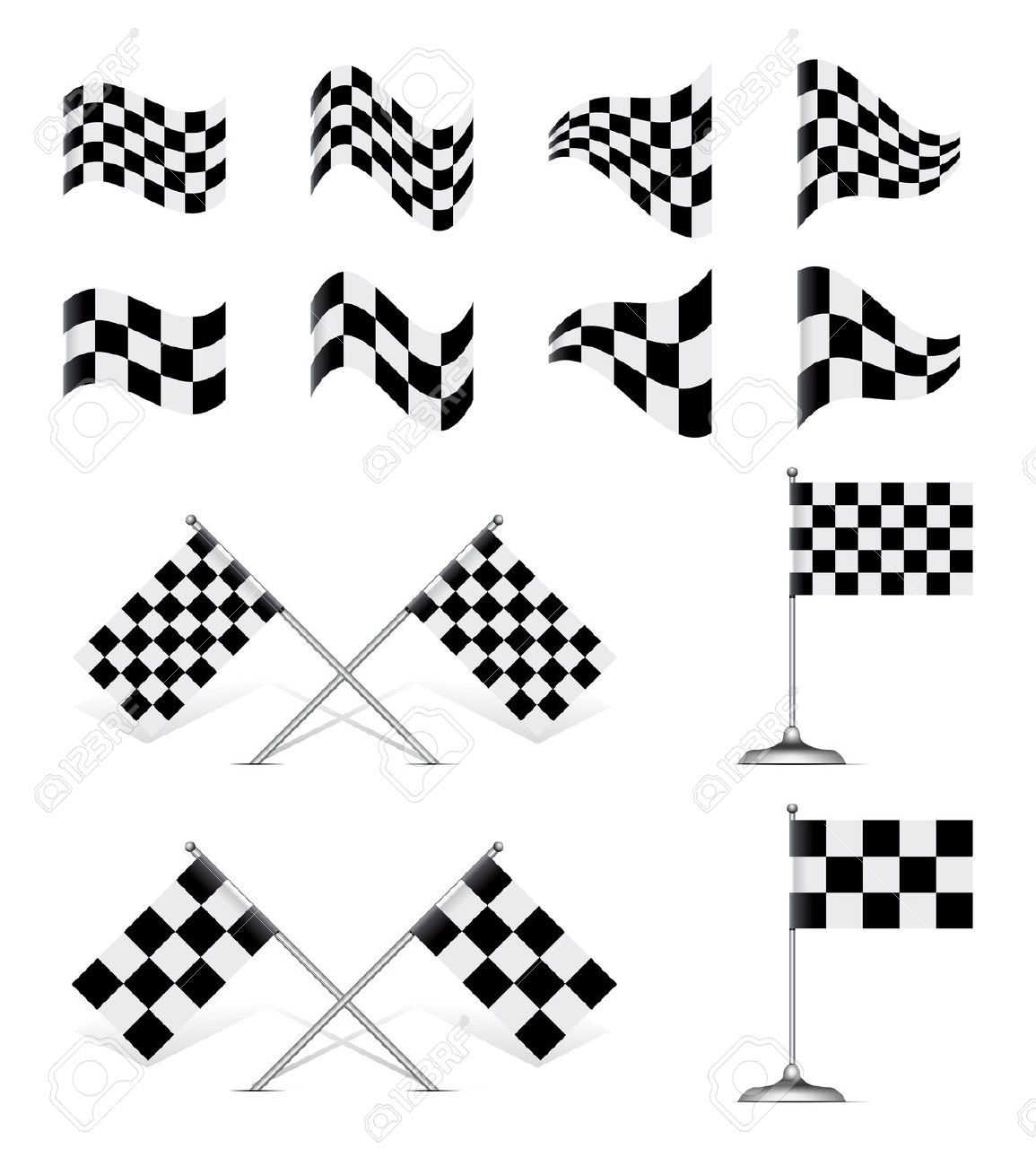 Start Flag Vector Racing Flags Flag Checkered