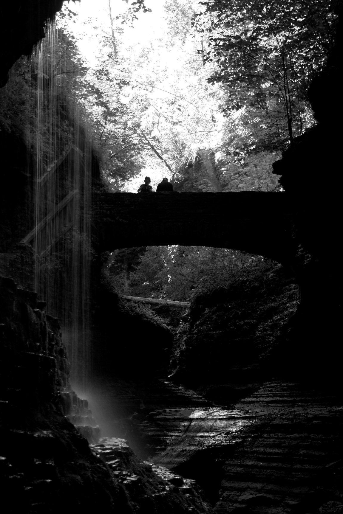waterfall in black by Misa kralik