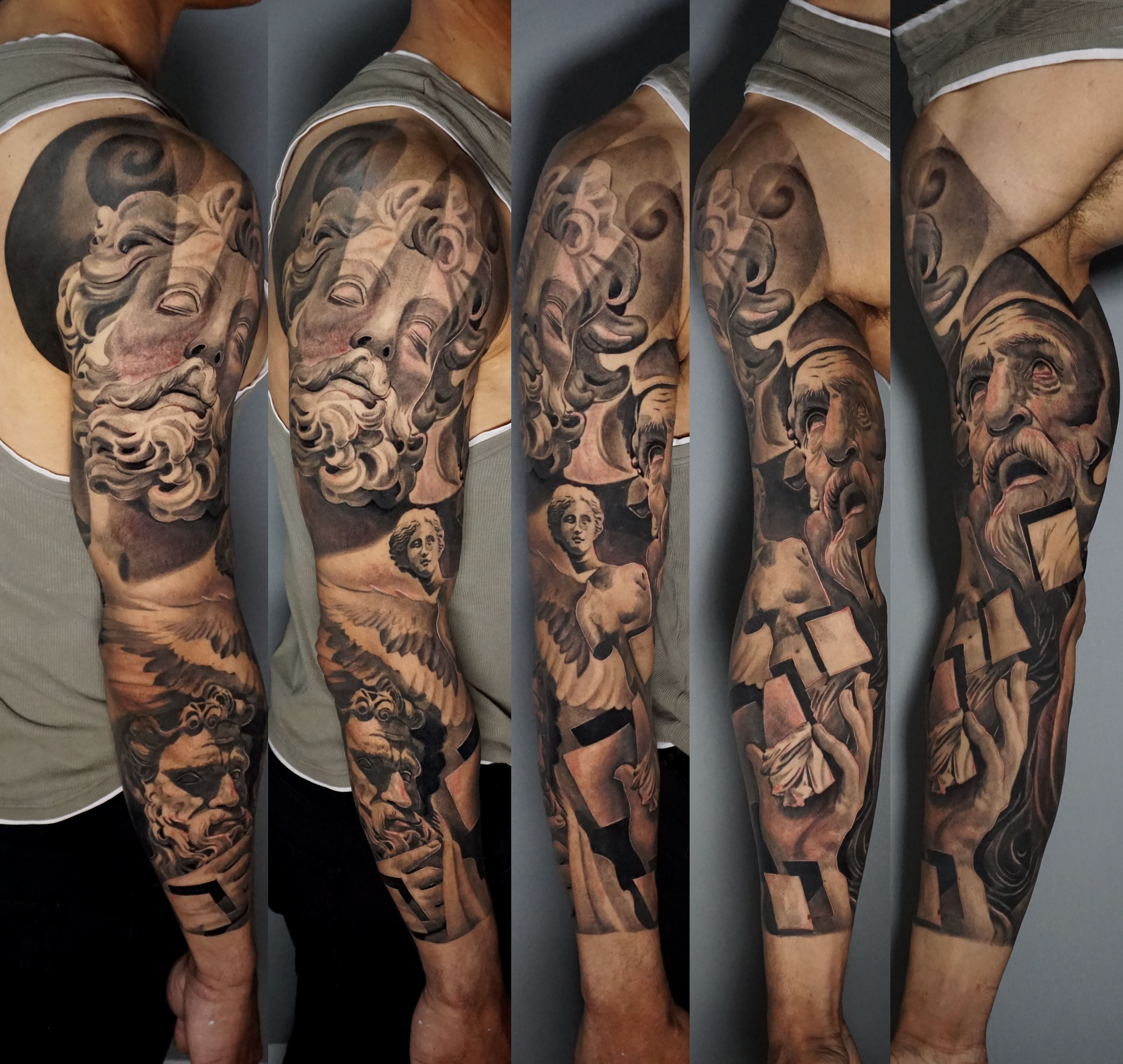 Black and grey tattoos in london full sleeves portraits