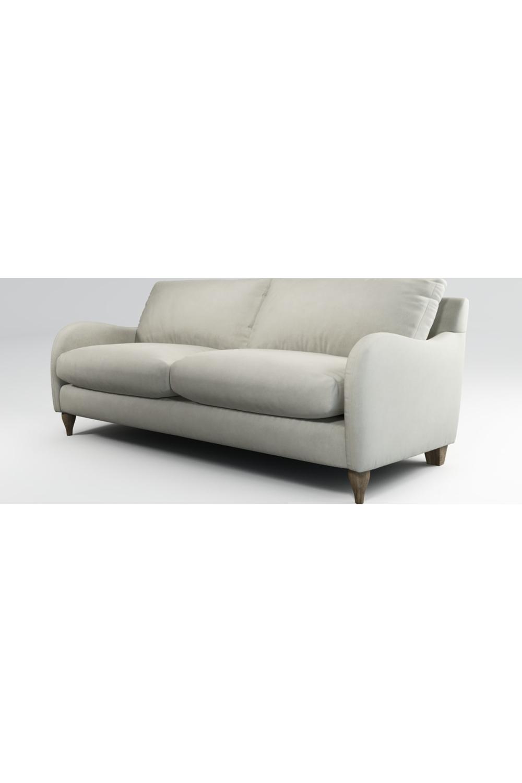 Custom Made Sofia 3 Sitzer Sofa Samt In Silber Canape Canape 3 Places Matelas