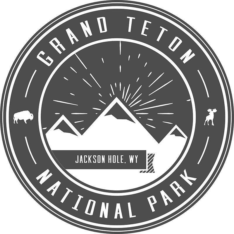 Grand Teton National Park Logo Sticker Grand teton