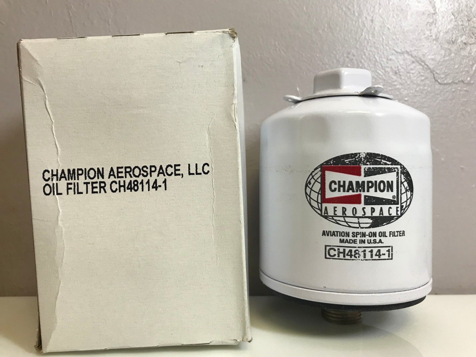 Champion Aircraft Oil Filter P N Ch48114 1 W Certification Oil