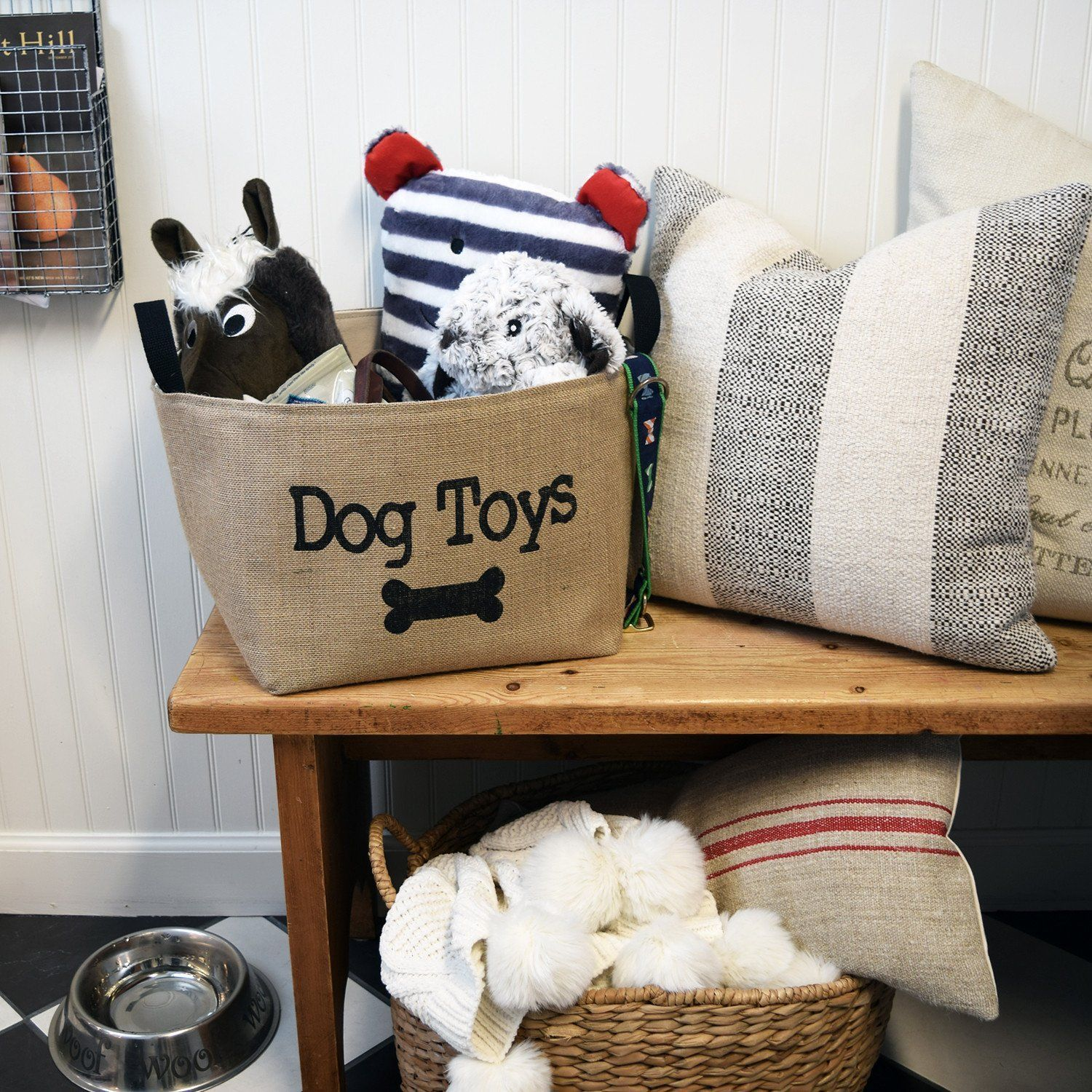 Dog Toys Basket Dog Toy Basket Dog Toys Rustic Dog Toys