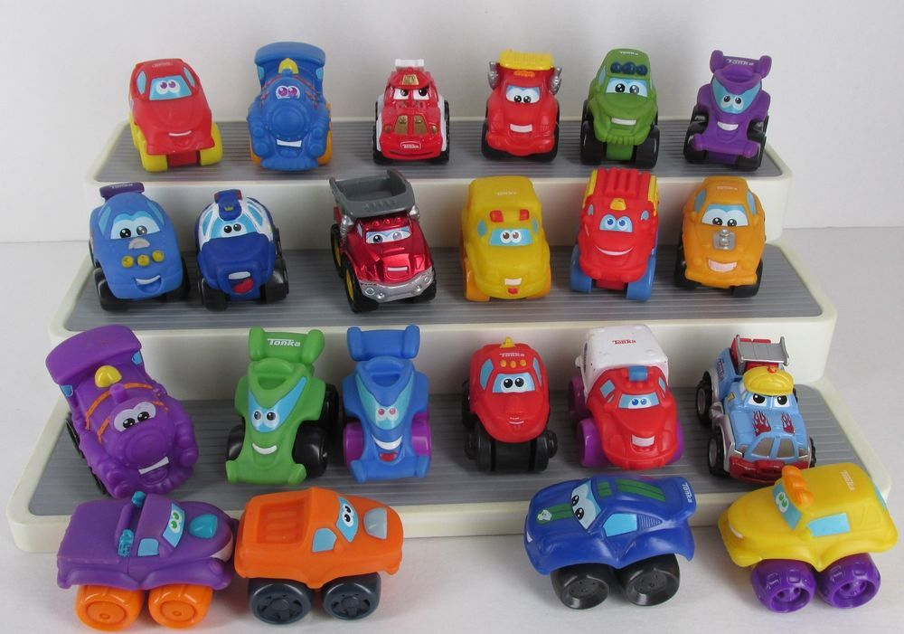 "Tonka Hasbro Chuck And Friends Small 2.5"" Soft Cars Trucks"