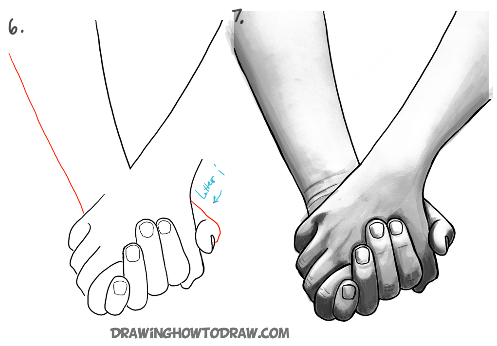 How To Draw Holding Hands With Easy Step By Step Drawing Tutorial How To Draw Step By Step Drawing Tutorials Holding Hands Drawing How To Draw Hands Drawing Tutorial Hands