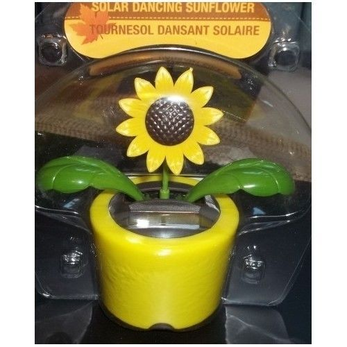 Solar Powered Sunflower Dancing Bobble Flapping Flower Pot Window Novelty Toy Fall Time Fun Flower Pots Solar Power
