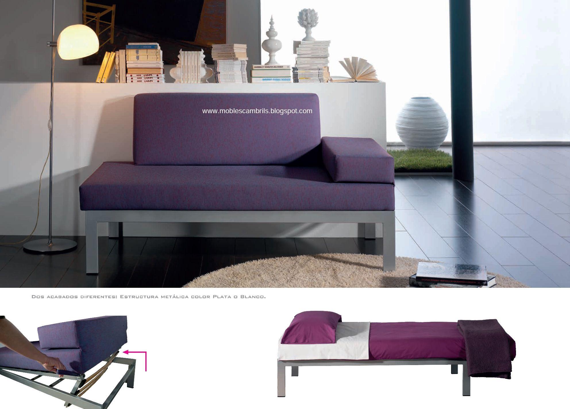 Sof cama modelo galileo individual e ideal para despachos dormitorios juveniles gimnasios - Sofa dormitorio ...