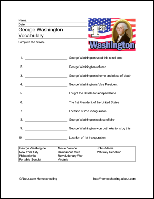 Games and Activities for President\'s Day | Activities, Printable ...