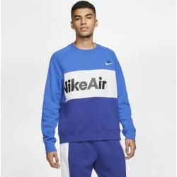 Photo of Nike Air Fleece Shirt mit Rundhalsausschnitt für Herren – Blau Nike