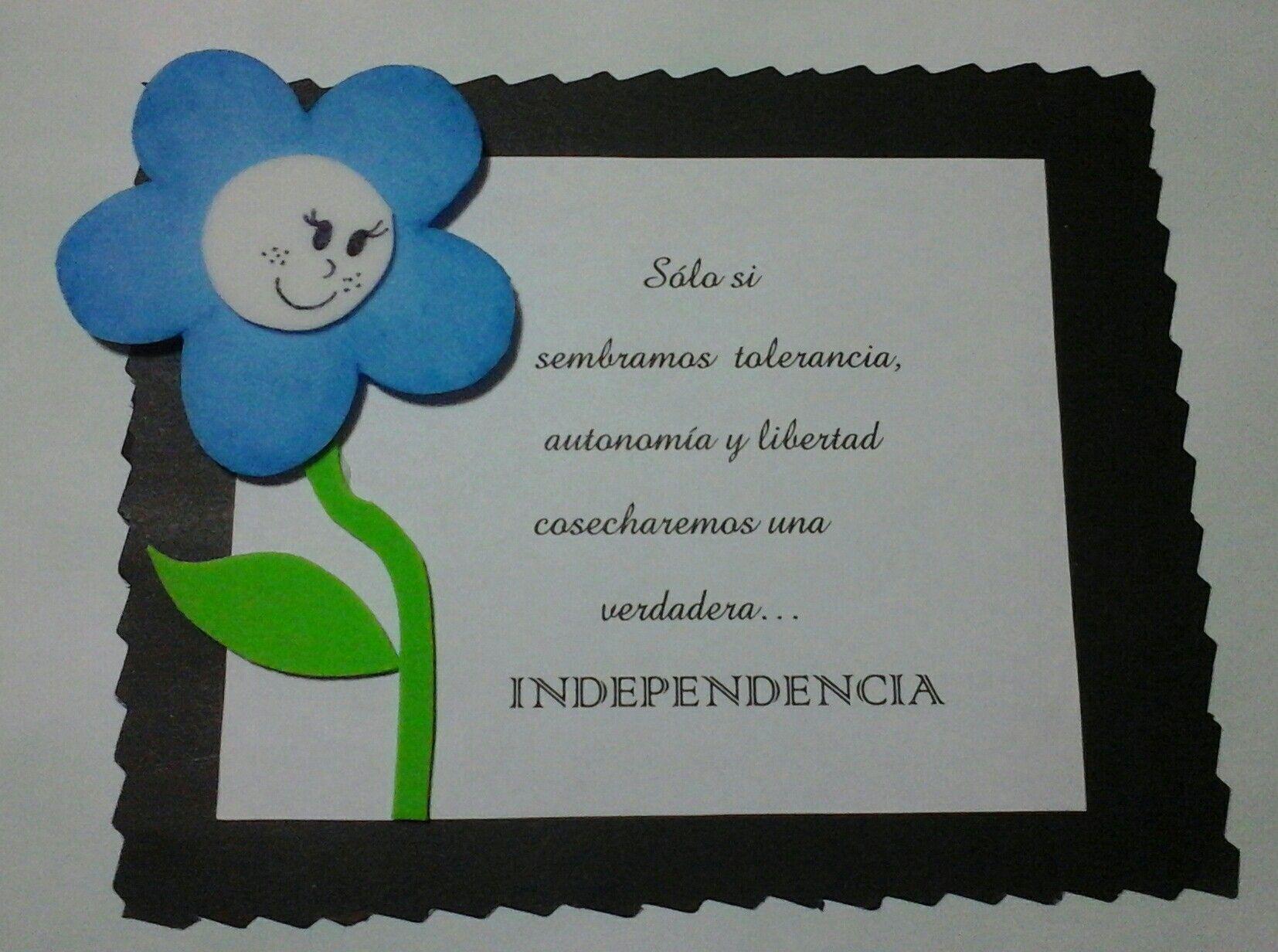 Tarjeta Invitacion Acto Escolar Dia De La Independencia