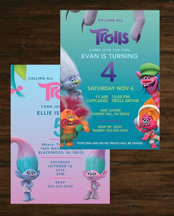 Trolls birthday party invitation colorful by tamaramastudios trolls birthday party invitation colorful by tamaramastudios filmwisefo Choice Image