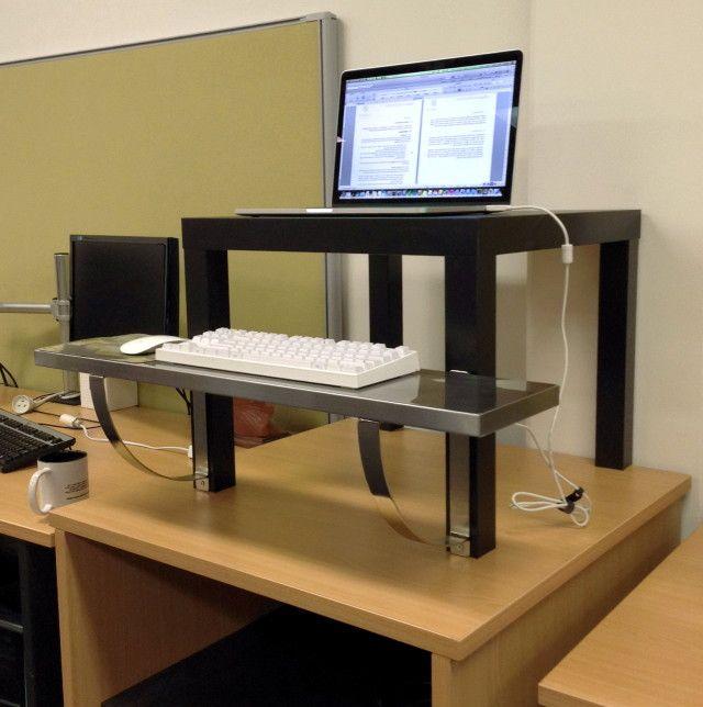 Standing Desk Ikea Hack $22 | Ikea standing desk