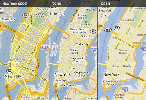 Google Lat Long Evolving The Look Of Google Maps Redux