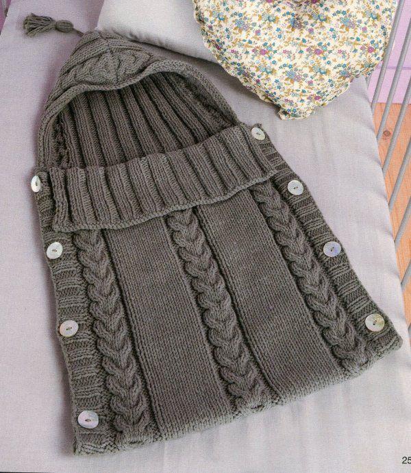 patron tricot nid d ange bebe