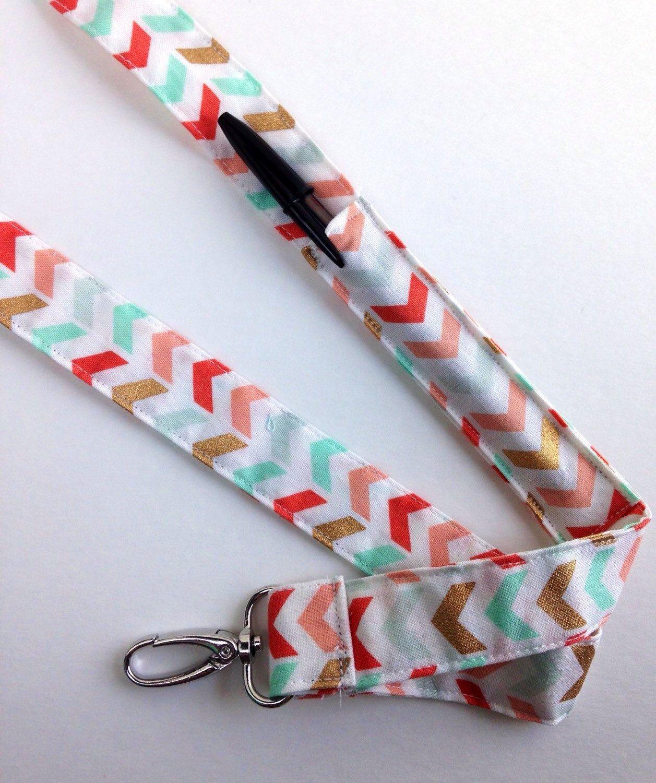 Lanyard With Pen Holder Etsy Lanyard Designs Diy Sewing Pattern Fabric Lanyard