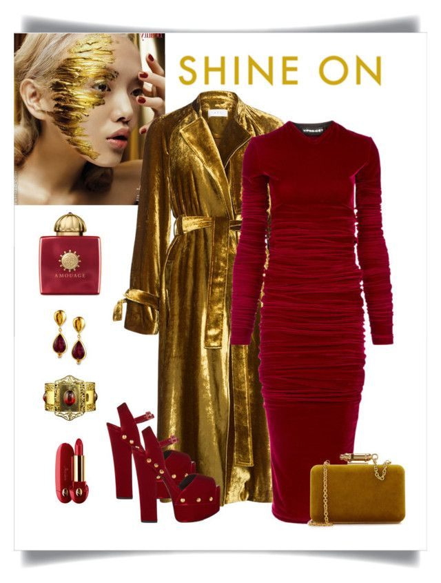 """Contest - Crushing on Velvet"" by romaboots-1 ❤ liked on Polyvore featuring A.L.C., Y/Project, Giuseppe Zanotti, Sophie Hulme, Gurhan, AMOUAGE and Guerlain"