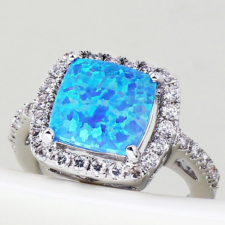 Blue Opal Engagement Rings RingsCladdagh