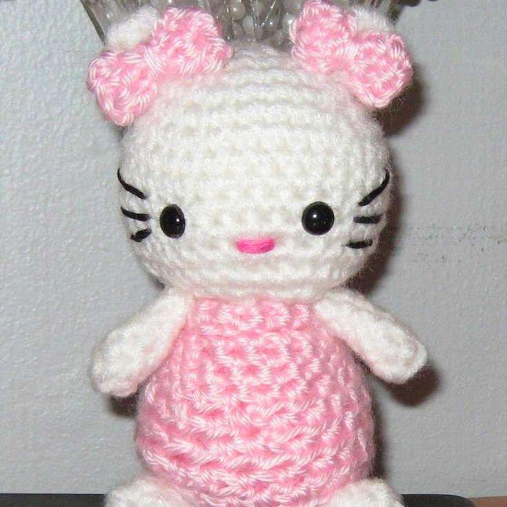 Grab this Super Cute FREE Pink Dress Hello Kitty Amigurumi Pattern ...