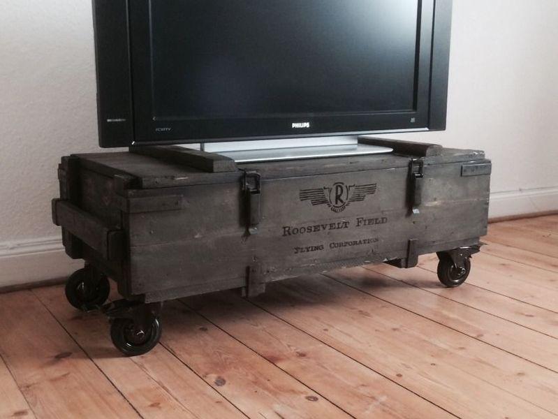 Roller Badezimmerschrank ~ Lowboard truhe loft tv schrank couchtisch von kistenjack via
