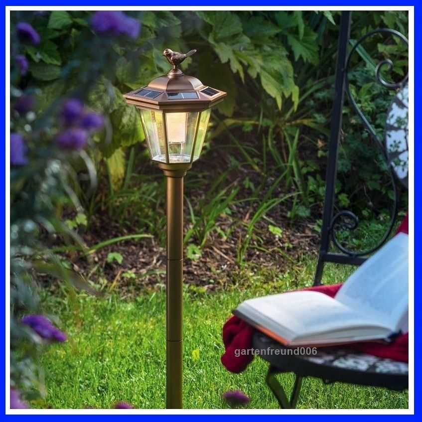solar led gartenlaterne standleuchte solarleuchte laterne solarlampe dekoleuchte in garten. Black Bedroom Furniture Sets. Home Design Ideas