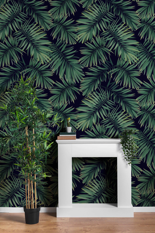 Wallsend Jungle Leaves 100 L X 25 W Peel And Stick Wallpaper Panel Wallpaper Panels Nursery Mural Removable Wallpaper