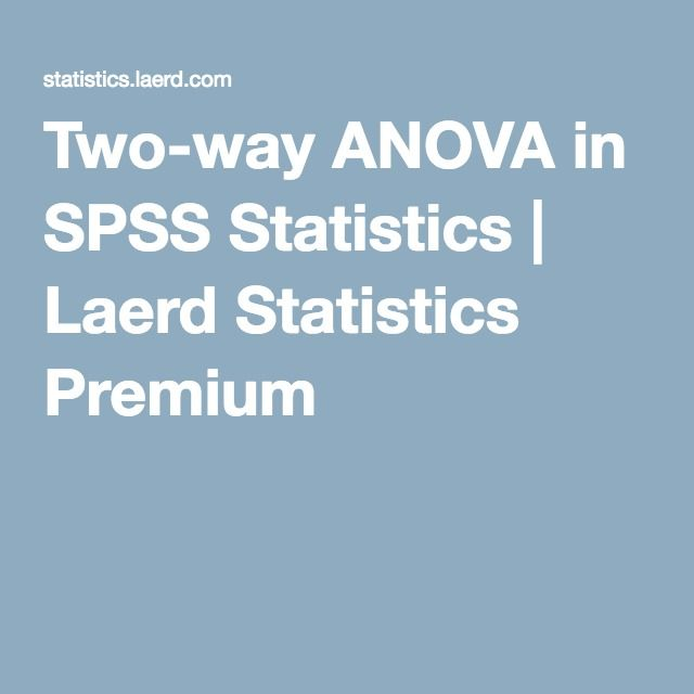 Two Way Anova In Spss Statistics Laerd Statistics Premium Spss