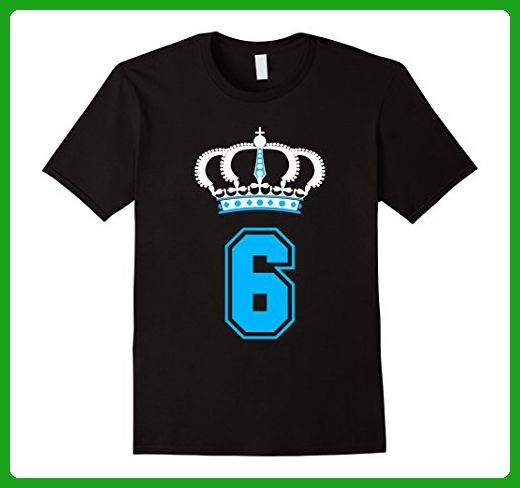 Mens 6 Year Old Birthday T Shirt Perfect Gift For Kids Boys Small Black