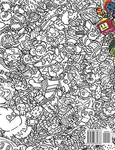 doodles in outer space coloring book - Doodle Coloring Book