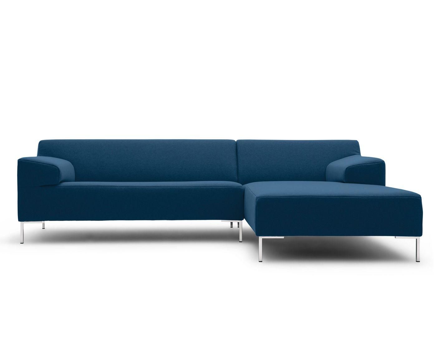 Hoekbank Chaise Lounge.Hoekbank Freistil 180 Met Chaise Longue Rechts Staalblauw