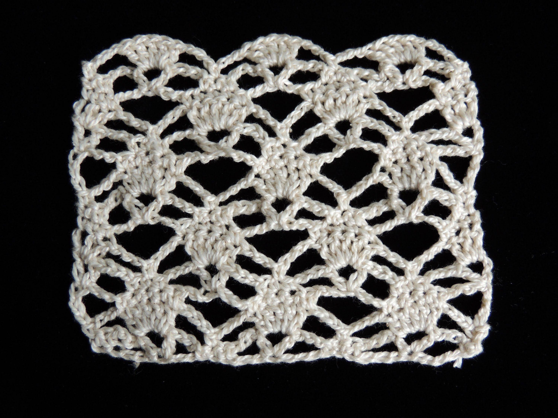 Lujo Crochet Patrón Chal Piña Embellecimiento - Manta de Tejer ...