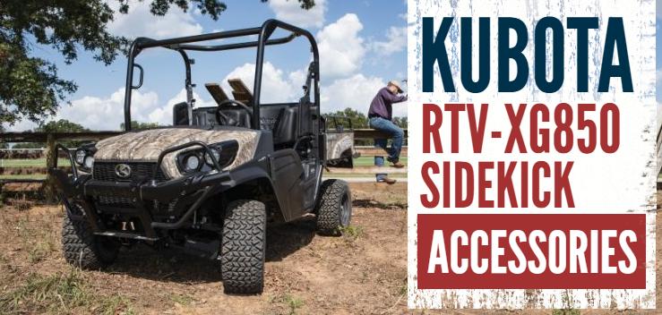 Kubota RTV-XG850 Sidekick Accessories available at
