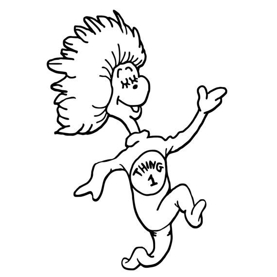 thing 1 and thing 2 coloring pages # 2