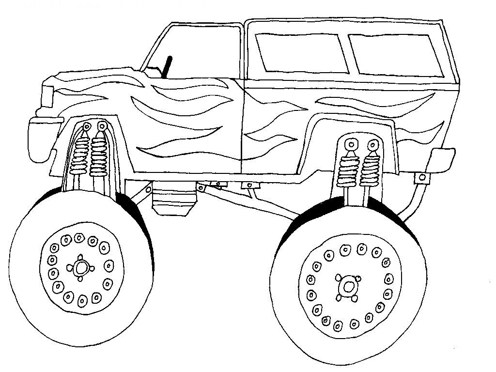 Cars With Large Tires Race car coloring pages, Cars