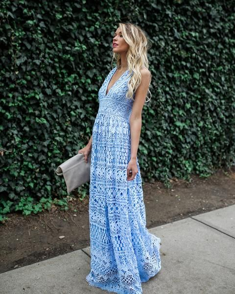 10fc94abe6 Fleur Lace Maxi Dress - Powder Blue