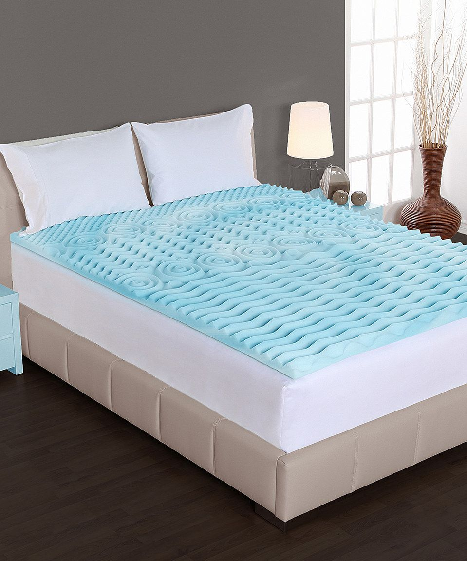 This Rest Right™ 2'' Liquid Gel Orthopedic Foam Topper by Authentic Comfort is perfect! #zulilyfinds