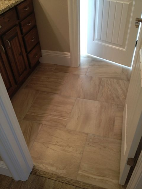 18 X 18 Floor Tile In Alternating Grain Patterns Finishes