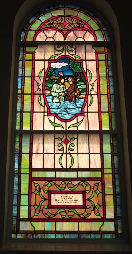 Stained Glass Windows At Mt Holly United Methodist Church In Rock