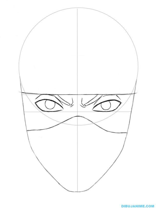 Como dibujar a Kakashi Hatake rostro y cuerpo Naruto Shippuden