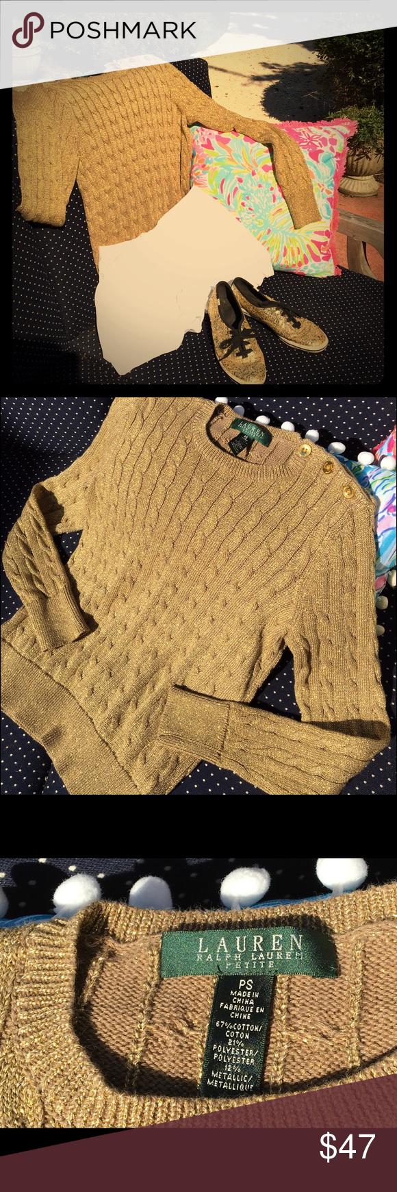 EUC golden sweater from Lauren Ralph Lauren sz PS This is